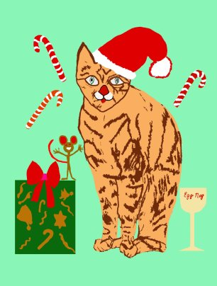 04 Cat & mouse christmas