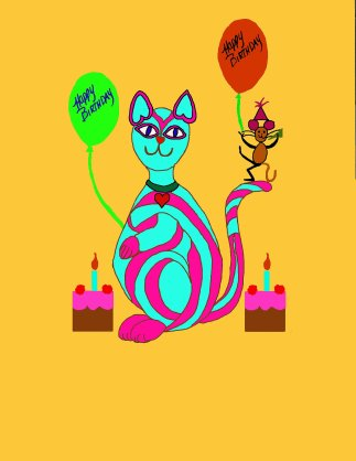 08 Birthday cat & mouse 3