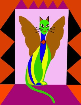 32 Angel Kitty 1 painted