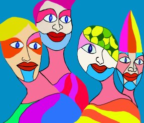 38 The clowns painted